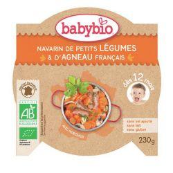 Assiette Navarin de petits légumes et d'agneau français dés 12 mois 230 grs