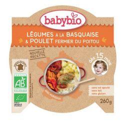 Mon p'tit plat Légumes du soleil poulet basquaise riz dés 15 mois