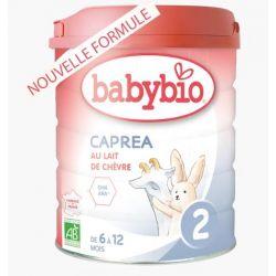 Lait au lait de chèvre bio Capréa 2 dés 6 mois - Nouvelle Formule