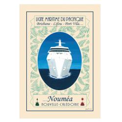 Affiche A4 Ligne Maritime