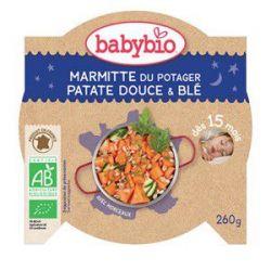 Assiette Bonne nuit Marmite du potager Patates Douces Blé dés 15 mois