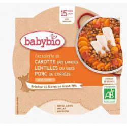 Cassolette de Carotte Lentilles & Porc au Cumin dès 15 mois