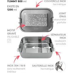 Lunch box YUMMY Cerisier tout Inox étanche - 800ml