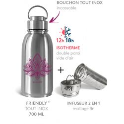 PACK FRIENDLY ISOTHERME LOTUS FRAMBOISE 700 ML