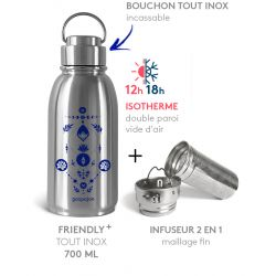 PACK FRIENDLY ISOTHERME LUNES BLEUES 700 ML