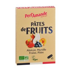 Pâte de fruit bio x5 barres 25g - Perlamande
