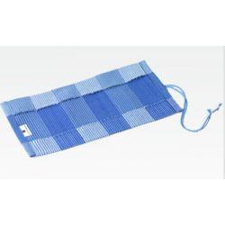 Étui étoffe bleue pour 12 blocs de cire à colorier