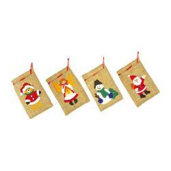 "Petits sachets de Noël ""jute"""