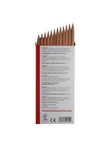 Boite de 12 grands crayons de couleurs