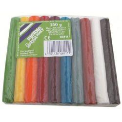 10 bâtonnets pâte à modeler multicolores