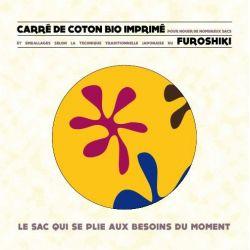 Carré de coton bio imprimé FUROSHIKI