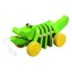 Alligator en bois à tirer