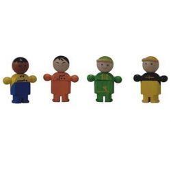4 petits bonhommes de toutes horizons!