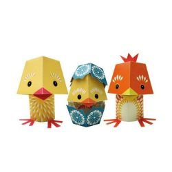 Paper toys The Yolk Folk