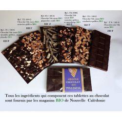 TABLETTE CHOCOLAT NOIR GINGEMBRE CONFIT 100G