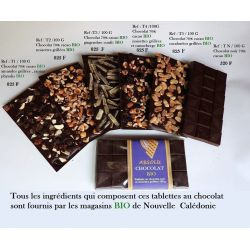 TABLETTE CHOCOLAT NOIR CACAHUETES GRILLEES 100G