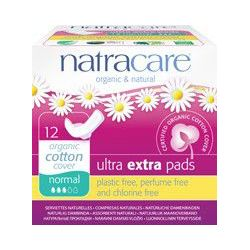 Serviettes ultra extra normal avec ailettes Natracare