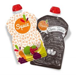 Lot de 2 gourdes réutilisables Foodie Couleur SQUIZ