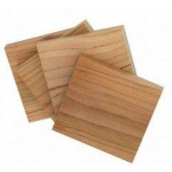 4 plaquettes en bois de cèdre
